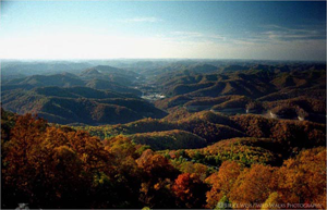 Aerial view of Whitesburg, KY